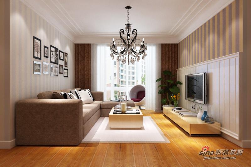 简约 三居 客厅图片来自用户2738813661在103平简约3居11的分享