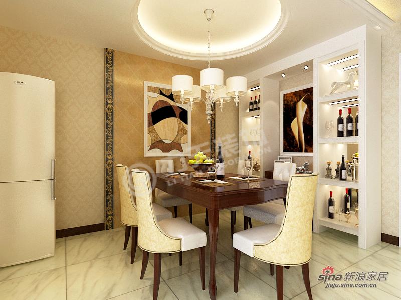 欧式 三居 餐厅图片来自阳光力天装饰在【高清】3室2厅简欧风奢华美家63的分享