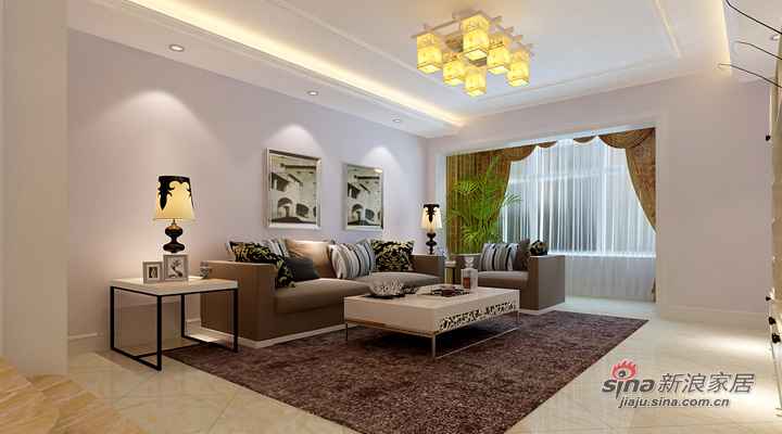 简约 二居 客厅图片来自用户2745807237在120平的大气简约风仅需8.7万51的分享