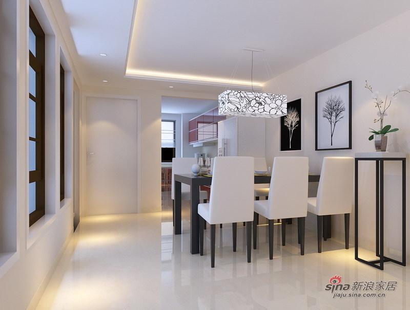 简约 复式 餐厅图片来自用户2737782783在时尚、明亮白色简约五口之家79的分享