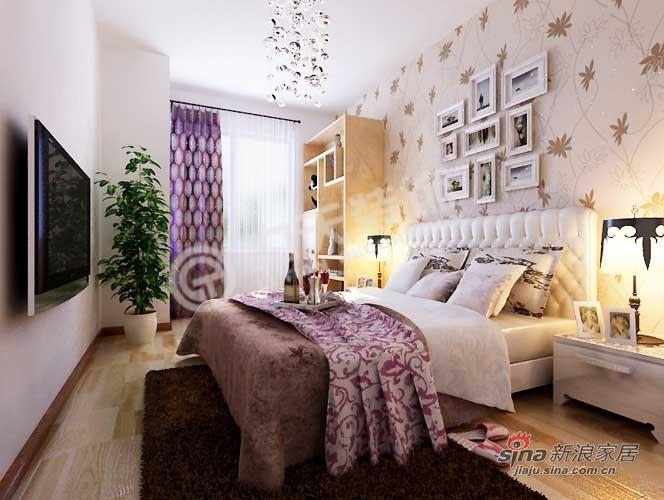 简约 二居 卧室图片来自阳光力天装饰在福晟钱隆城80平米现代简约79的分享