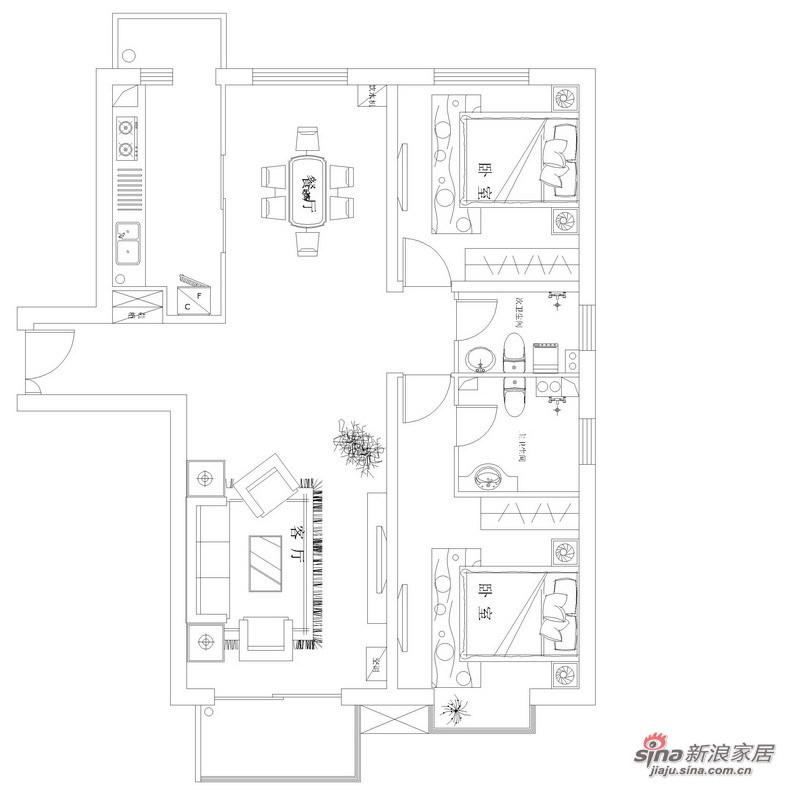 简约 三居 客厅图片来自用户2737950087在120平干净简约清爽四口之家90的分享