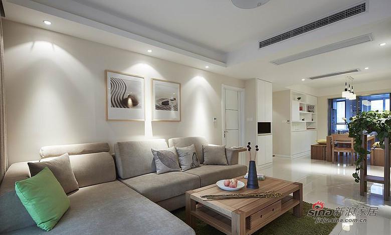 简约 三居 客厅图片来自装修微日记在【高清】7万装120平淡妆素抹简约屋38的分享