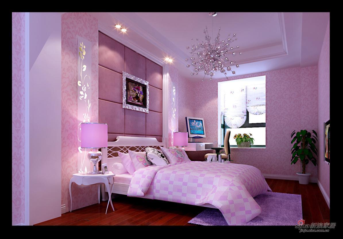 欧式 二居 卧室图片来自用户2746948411在全包6万 打造金地叁拾峯121平米欧式风格43的分享