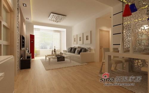 简约 二居 客厅图片来自用户2738813661在6万超值打造100平大包装修27的分享