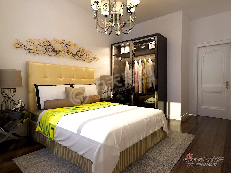 简约 二居 卧室图片来自阳光力天装饰在2室2厅现代简约功能美家21的分享