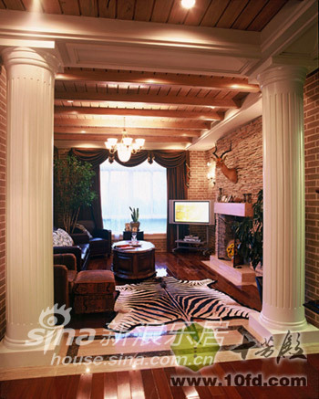 欧式 别墅 客厅图片来自用户2746953981在英式田园60的分享
