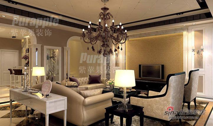 欧式 别墅 客厅图片来自用户2745758987在保利叶语232平米别墅装修设计21的分享