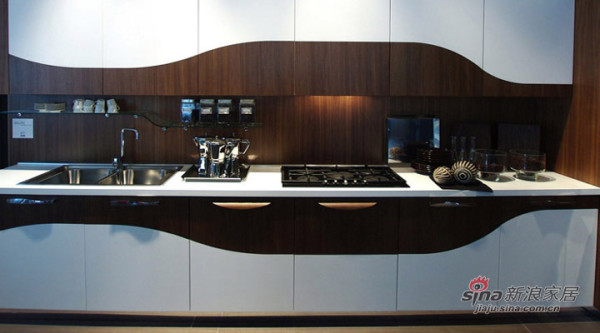 融科东南海现代中式风装修设计-厨房效果图