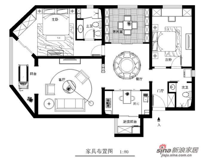 简约 三居 户型图图片来自用户2737786973在安慧北里逸园-简约-荷韵96的分享