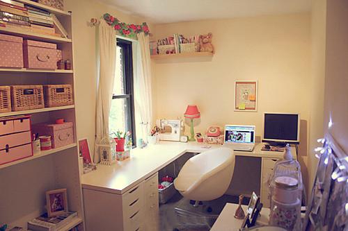 实用温暖的卧室和书房!
