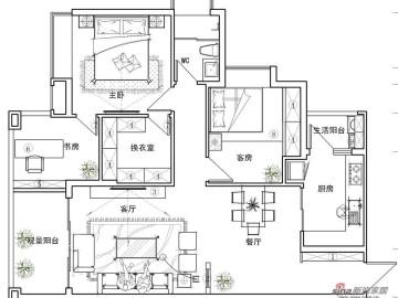 【高清】英伦玫瑰95平米三居室设计82