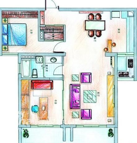 简约 三居 客厅图片来自用户2556216825在青庭装饰样板房之南山巴黎66的分享