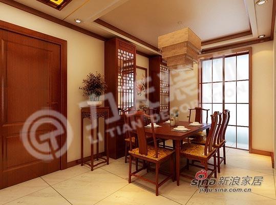 中式 三居 餐厅图片来自阳光力天装饰在135平米中式古典三居22的分享