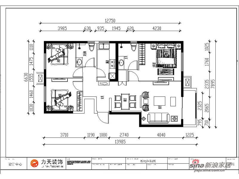 中式 三居 其他图片来自阳光力天装饰在枫丹天城- 三室两厅一厨两卫-中式93的分享