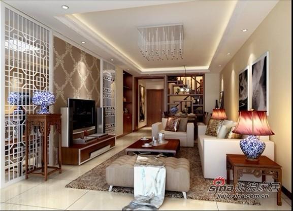 中式 三居 客厅图片来自用户1907662981在12万装朝阳148平复式新中式3居室36的分享
