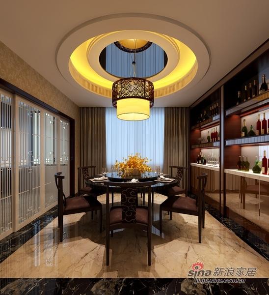 中式 别墅 餐厅图片来自用户1907659705在中西合璧造300平至尊豪宅87的分享