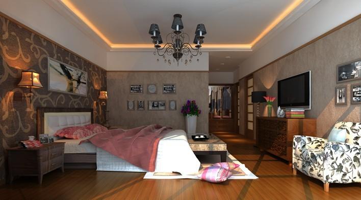 中式 三居 卧室图片来自用户1907661335在4.86万 完美打造135平现代中式33的分享