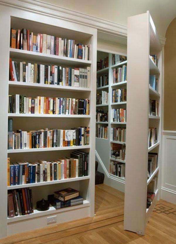 这个书房非常有创意的,家里的小型图书馆