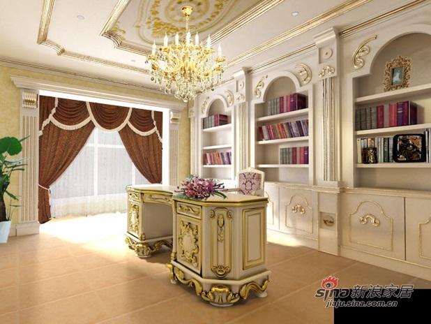 欧式 别墅 书房图片来自用户2746869241在别墅奢华中的霸气78的分享