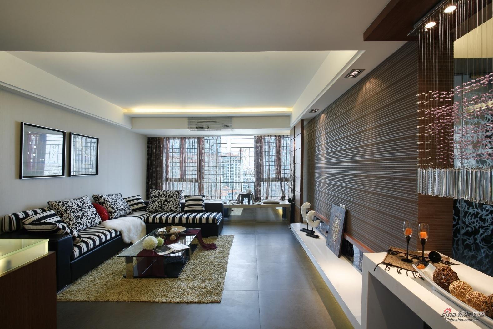 简约 复式 客厅图片来自用户2739081033在山语城(190平米)现代简约设计案例37的分享