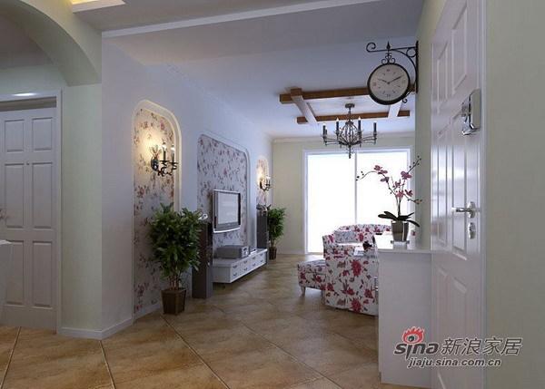 田园 二居 客厅图片来自用户2737791853在二次装修85平田园实景照片31的分享