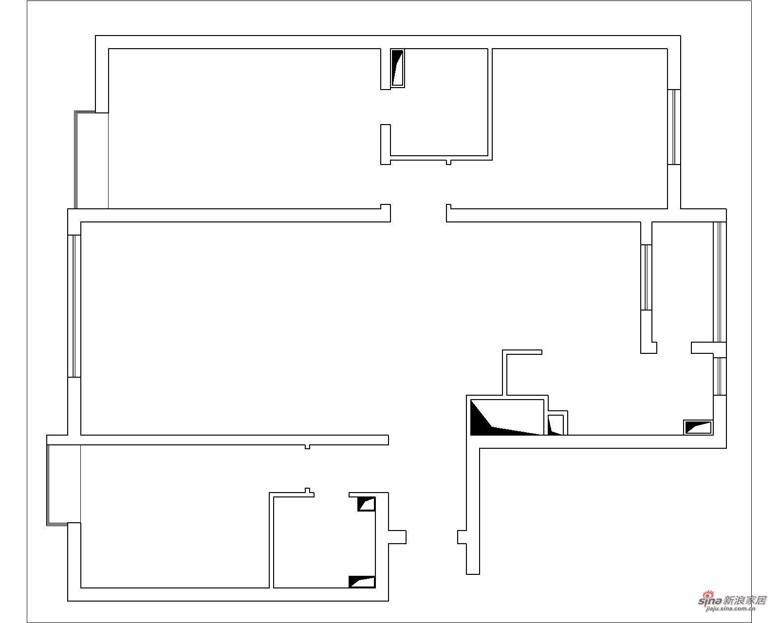 欧式 三居 户型图图片来自用户2746869241在160平既实用又美观温馨的欧式三居36的分享