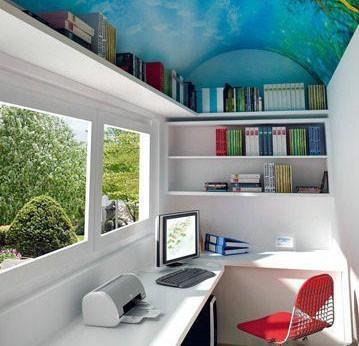 这是阳台吗?这是书房吗?还是楼道?太喜欢了,爱死了! 特爱上面墙壁的画