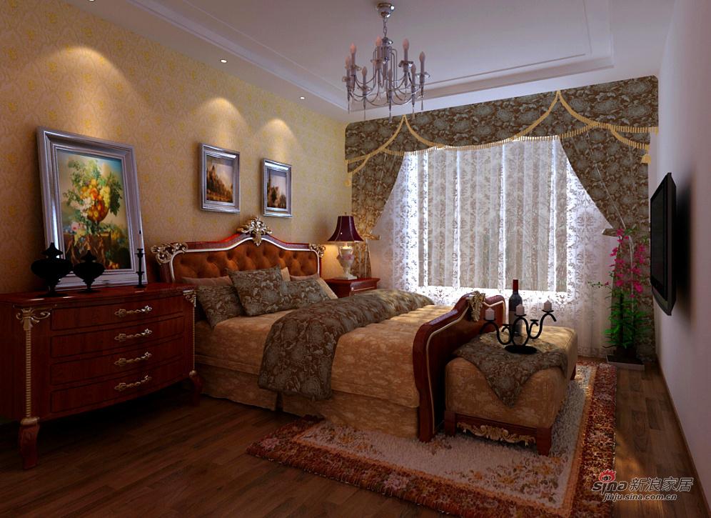混搭 三居 卧室图片来自用户1907689327在清新古韵三居室79的分享