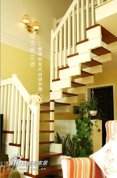 简约 复式 楼梯图片来自用户2737786973在超甜美田园风情复式居室设计192的分享
