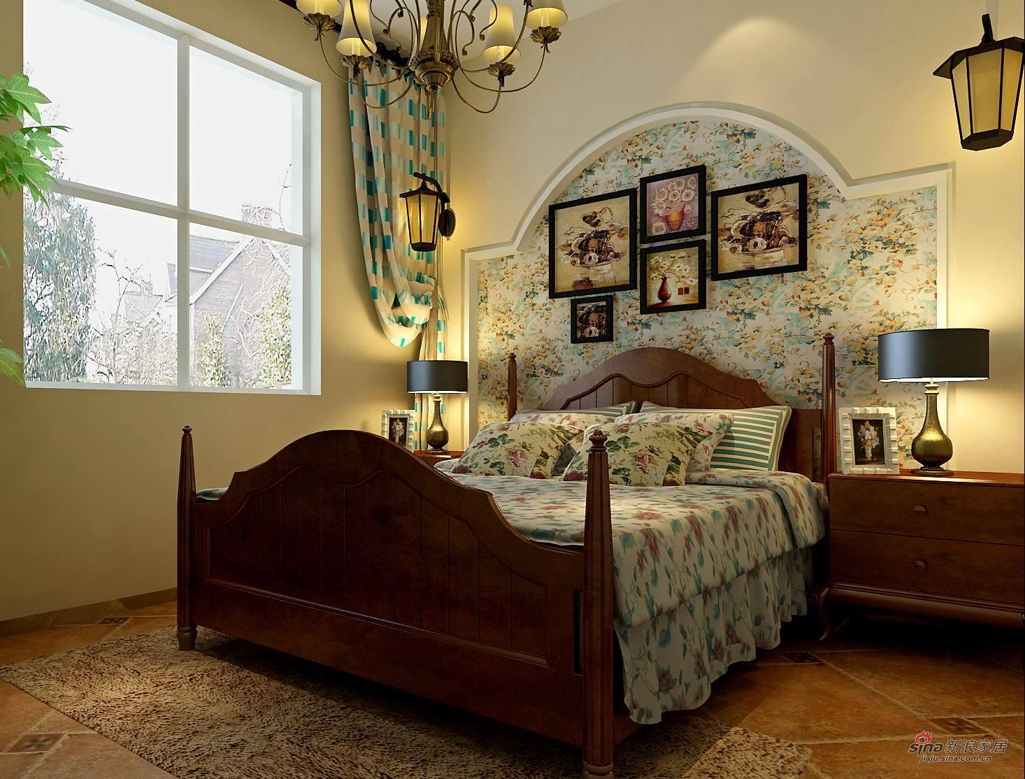 地中海 三居 卧室图片来自用户2757320995在正商新蓝钻地中海田园混搭效果图59的分享