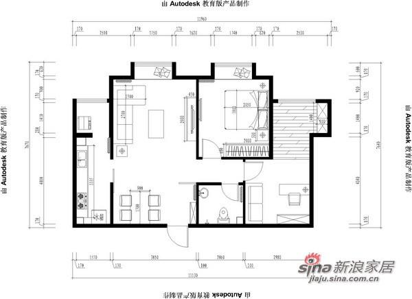 简约 一居 客厅图片来自用户2739378857在紫金新干线B1户型77的分享