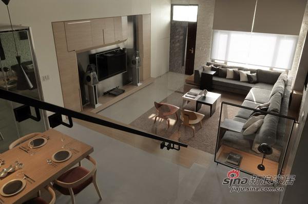 中式 loft 客厅图片来自用户1907658205在110平实景极奢loft 精致生活的完美体验74的分享