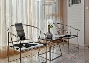 新古典 三居 阳台 舒适图片来自家装大管家在【高清】9万装102平新古典时尚居27的分享