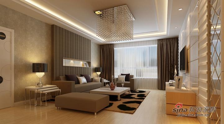 简约 三居 客厅图片来自用户2737786973在[大正莅江]169平现代简约三居35的分享