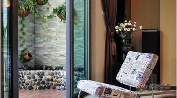 融科东南海现代中式风装修设计-阳台效果图