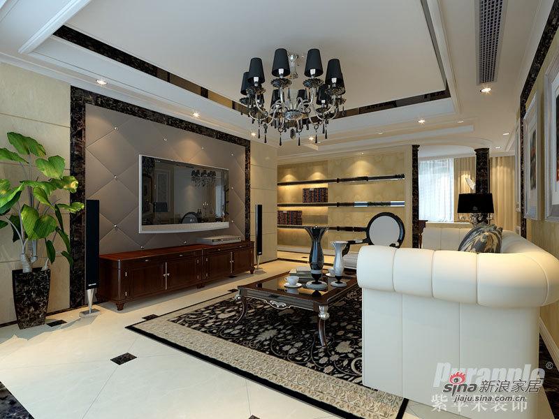 欧式 三居 客厅图片来自用户2772873991在12万精致装修紫苹果打造53的分享