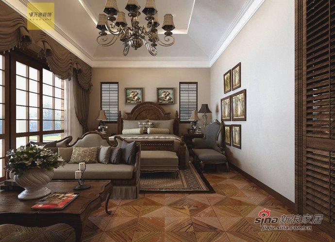 新古典 别墅 卧室图片来自用户1907701233在【高清】古典风格别墅设计48的分享