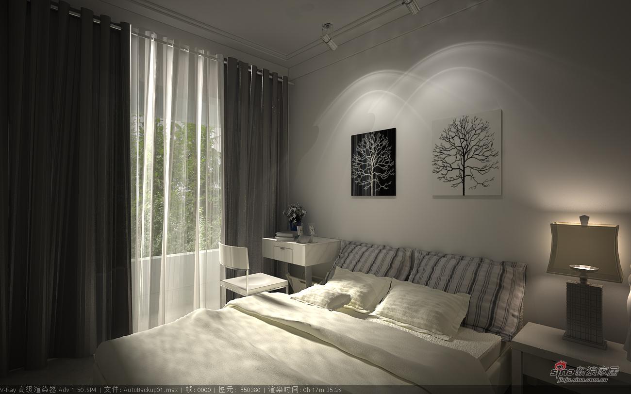其他 二居 卧室图片来自用户2737948467在艺术黑白85平感观2居86的分享