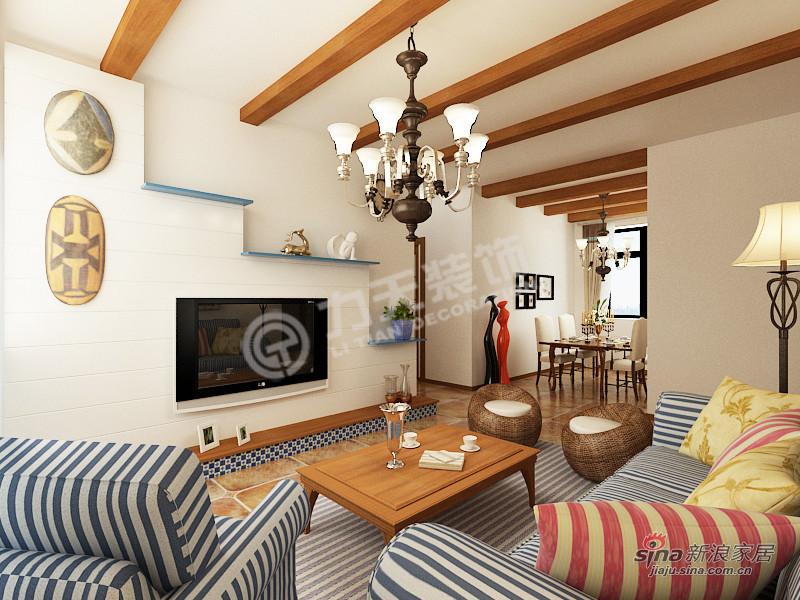 地中海 四居 客厅图片来自阳光力天装饰在4室2厅地中海风格家居84的分享
