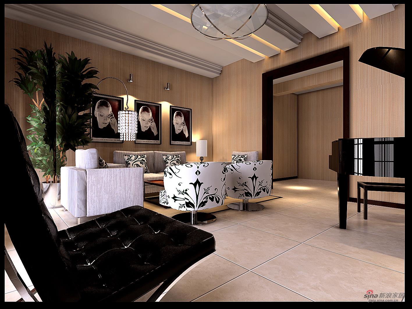 简约 别墅 客厅图片来自用户2737950087在简约居室设计25万基础工程款打造56的分享