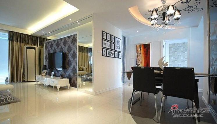 简约 二居 客厅图片来自佰辰生活装饰在夫妻78平时尚艺术幸福小家65的分享
