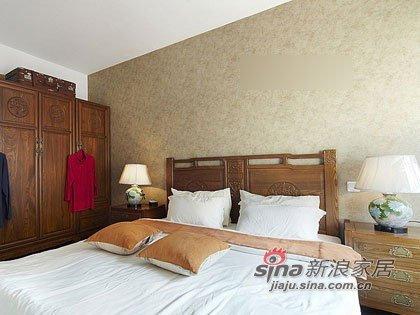中式 二居 卧室图片来自用户1907696363在淑女打造68平新潮中式闺房12的分享