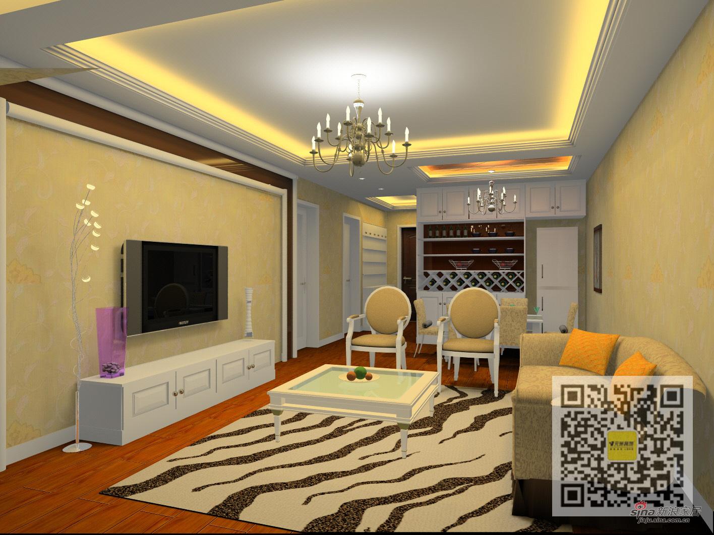 欧式 二居 客厅图片来自用户2746889121在100平简欧风格设计36的分享
