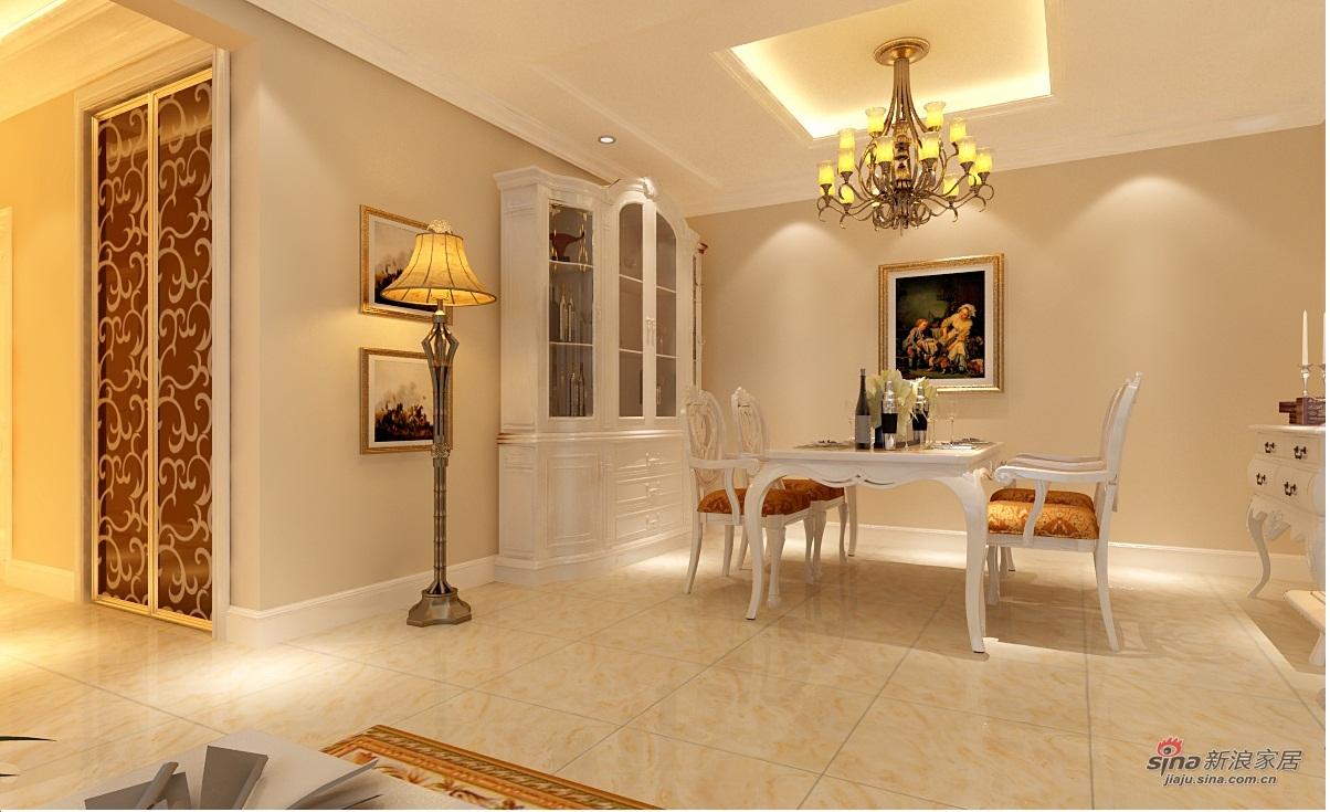 欧式 四居 餐厅图片来自用户2746953981在130平简欧风格装修56的分享