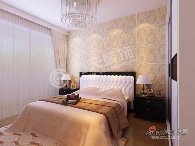 简约 二居 卧室图片来自阳光力天装饰在天鹅湖1号84平米现代简约32的分享