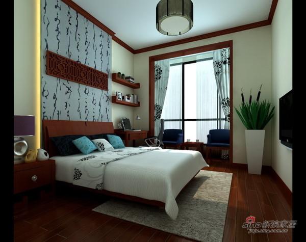 新中式风格次卧室