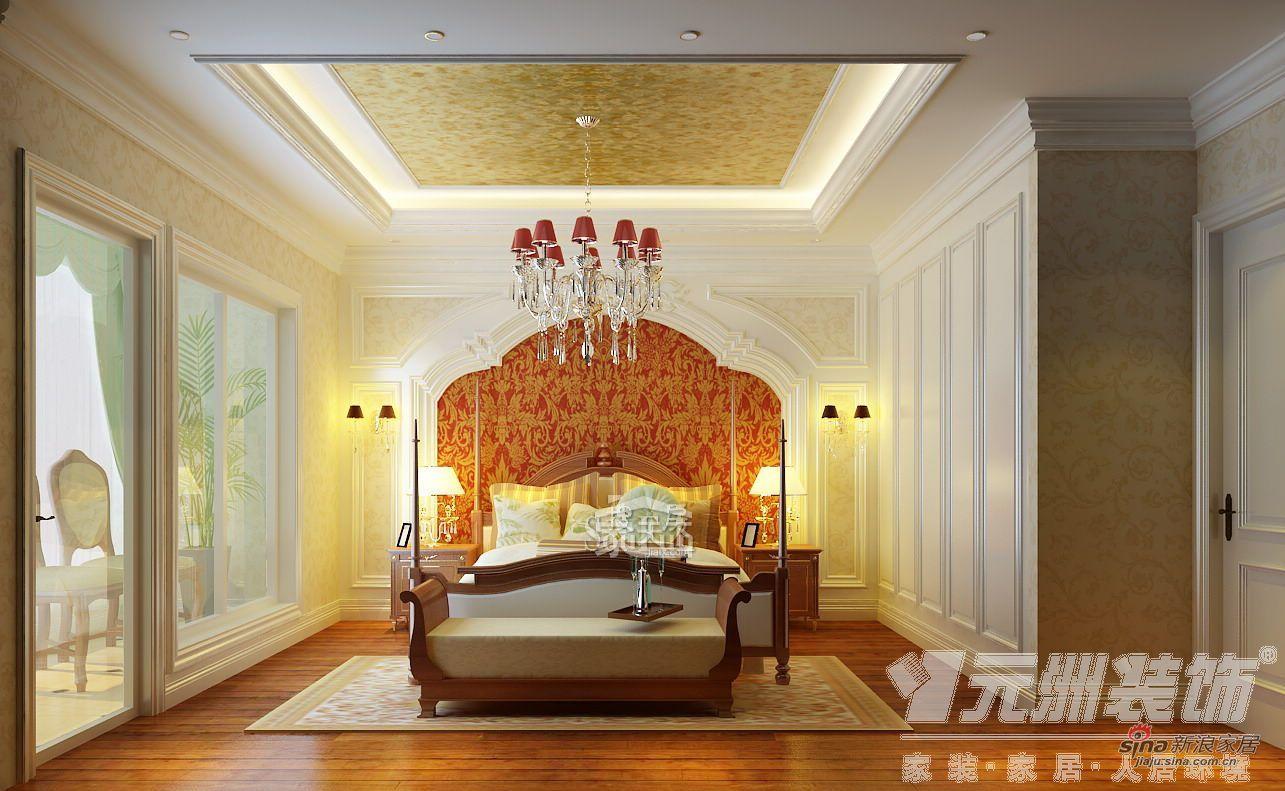 欧式 三居 卧室图片来自用户2746948411在147平米欧美风格奢华三居66的分享