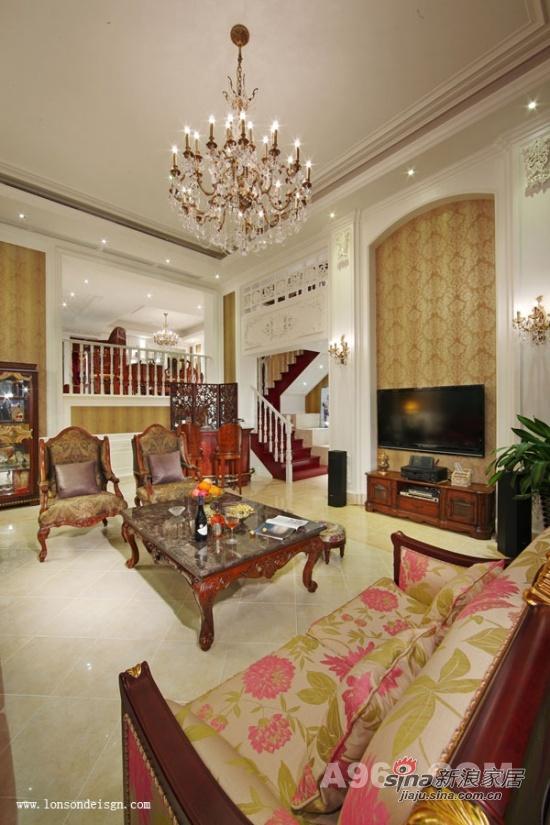 中式 复式 客厅图片来自用户1907659705在打造独具魅力的中国风三层复式19的分享