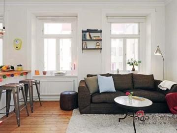 斯德哥尔摩47平米一居室开放式空间设计62